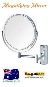WALL-MOUNT-MAGNIFYING-COSMETIC-2SIDED-BATHROOM-MIRROR-20cm-3X-MAGNIFICATION-WL23