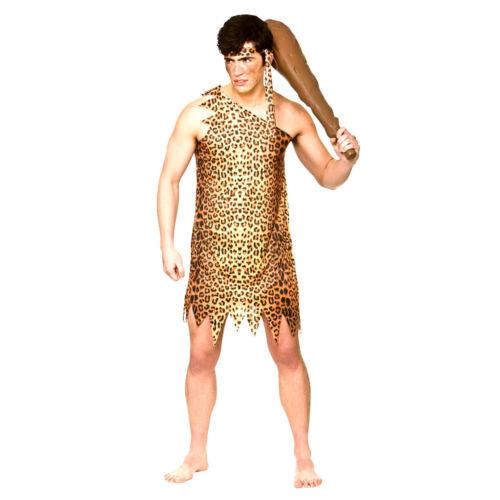 Adulte homme des cavernes flintstones jungle âge pierre stag party costume robe fantaisie homme