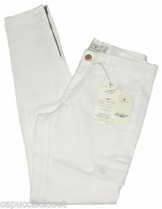 Lucky-Brand-Womens-Pants-CHARLIE-Skinny-Cargo-Stretch-Chinos-White-27-NEW-99