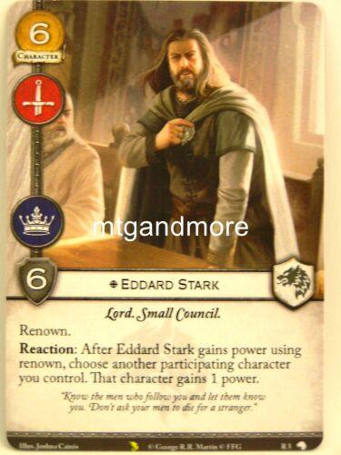 Valyrian Draft Pack A Game of Thrones 2.0 LCG 1x #R003 Eddard Stark
