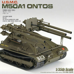 Academy-13218-1-35-U-S-M-C-M50A1-ONTOS-Plastic-Model-Kit-Tank
