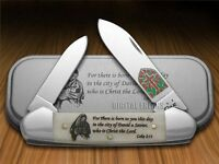 Case Xx Christmas Smooth Natural Bone Canoe Stainless Pocket Knives Knife on sale