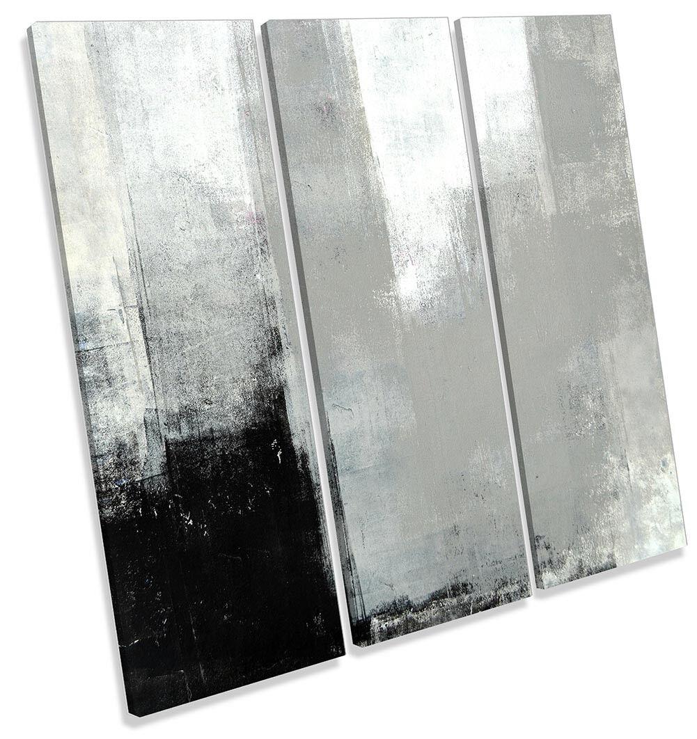 grau Abstract Grunge TREBLE CANVAS WALL ARTWORK Print Art