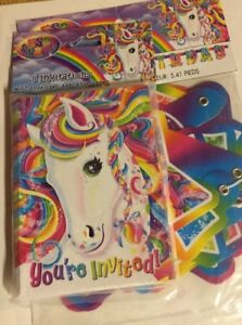 Details About Lisa Frank Rainbow Majesty Birthday Banner And Invitations Party Supplies