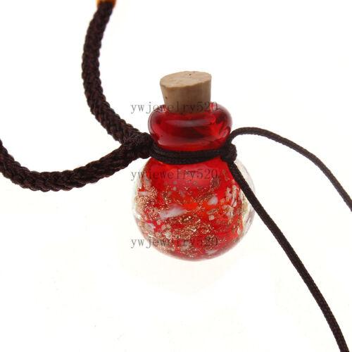 Hot Fashion huile bouteille de parfum flacon rouge collier pendentif parfum diffuseur NEUF