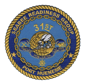 """Navy 31st Seabee Readiness Group Patch 4/"""" x 4/"""" DS14030"""