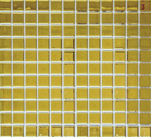 GOLD MOSAIK Fliese Bad WAND KÜCHE Verkleidung Glasmosaik DUSCHWAND  60-0706/_b