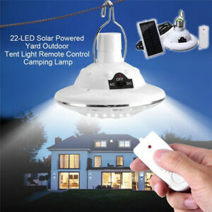 LED Solar Lampe Glühbirne Solarleuchte Campinglampe Garten Außen-Beleuchtung DE