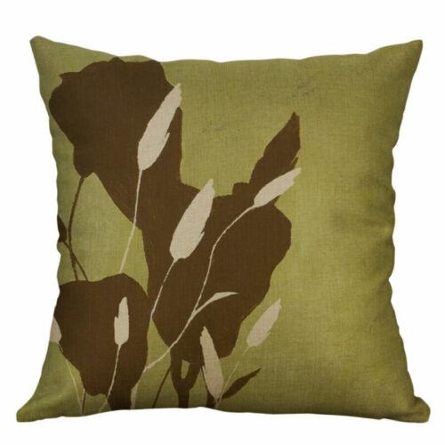 """Case Vintage Plant Cushion Cover Sofa Cotton linen Pillow Home Decor 18/"""""""