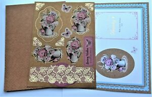 Kanban Floral Birthday Foiled Toppers, Card & Insert Kit ...