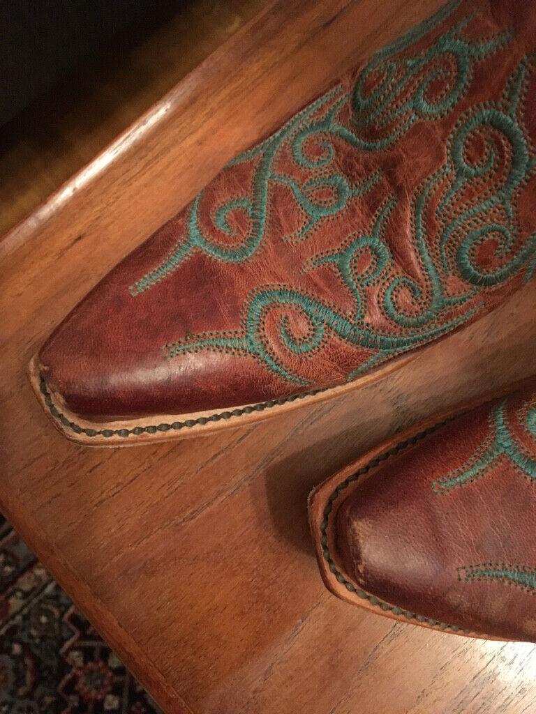 Westernstiefel Lucchese Braun mit Muster Damen N4746 Größe Größe Größe 38,5 - US 8   20e733