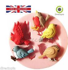 3D Uccello Natura Design FONDANT PASTA di Zucchero Torta decorazione stampo unico stampo