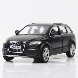 AUDI-Q7-V12-SUV-Negro-Coche-Modelo-1-36-Diecast-Vehiculo-de-juguete-de-regalo-ninos-Tire-hacia-atras