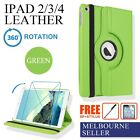 Green iPad 4 4th iPad3 iPad2 Smart Leather Cover Case Skin Stand 360° Rotate