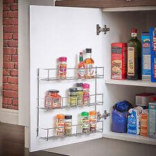 3 Tier Spice Sauce Rack Jar / Bottle Storage Shelf for Kitchen Cupboard Door
