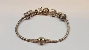 Pandora-Armband-original-6-Anhaenger-Beads-Charm-925er-Silber-L-20-5-cm