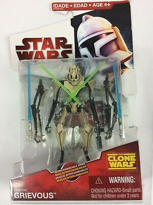 Star Wars The Clone Wars General Grievous Moc Cw01 W Interchangeable Arms Ebay
