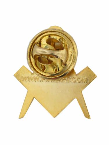 Pinmart/'S Oro masónica símbolo Brújula Esmalte Pin de Solapa