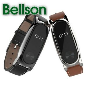 Bands Bracelet Leather Wrist Strap Silicon Necklace Case For Xiaomi Mi Band 2