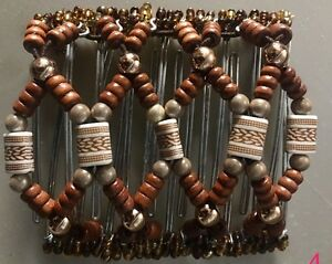 EZ-Stretch-Comb-Hand-Made-Hair-Comb-9-Tooth-Exquisite-African-Bead-Work