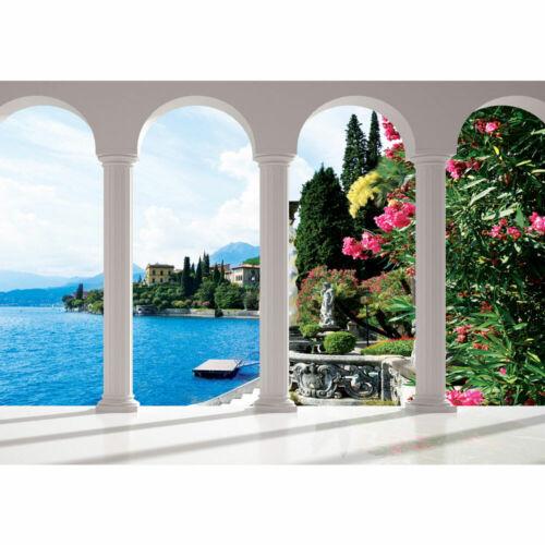 2252 Fototapete Säulen Himmel Blumen Gadersee Italien liwwing no