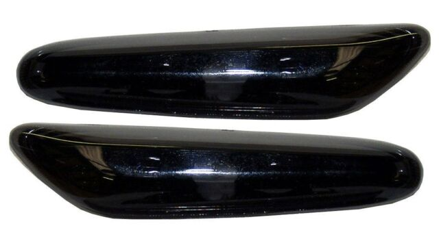 BMW 3 SERIES E90 SALOON SIDE REPEATER INDICATORS - CRYSTAL BLACK / SMOKED