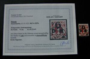 BMA167-DANZIG-Mi-Nr-D-25-b-D25b-gestempelt-Fotoattest-Befund-einwandfrei