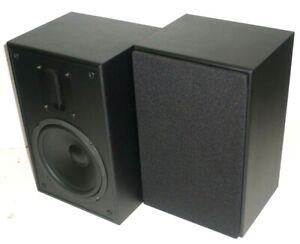 Mp-65rt-6-5in-und-Ribbon-Hochtoener-2-way-Regal-Lautsprecher-Paar-schwarz