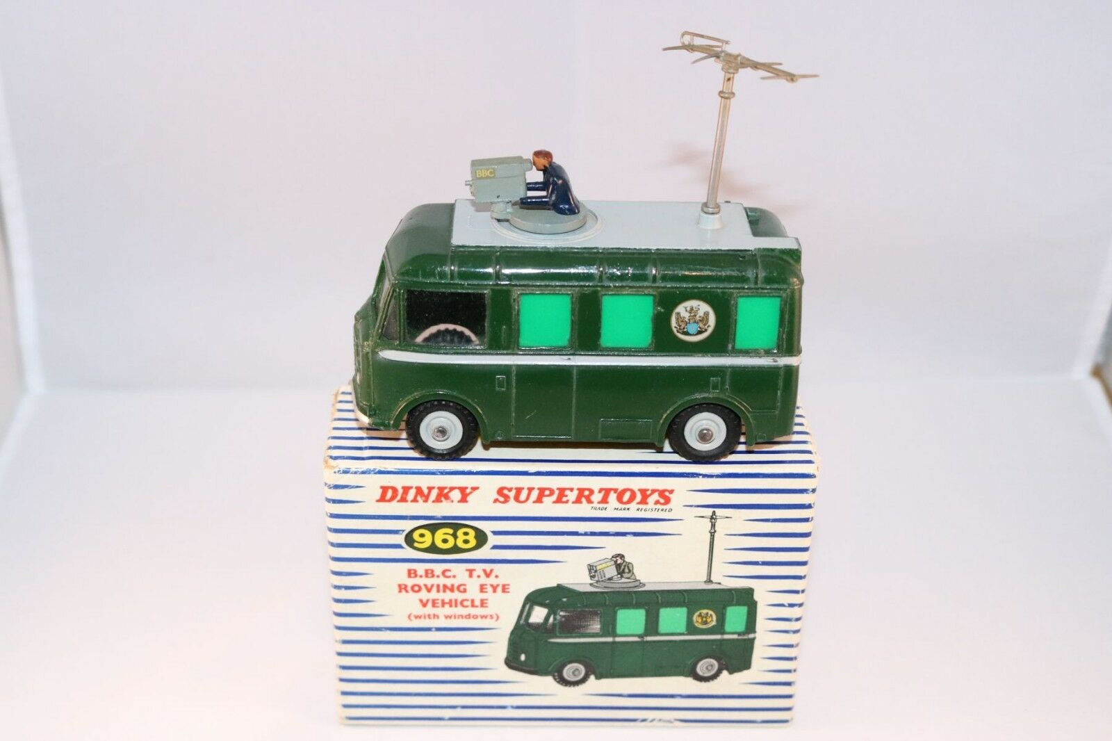 Dinky Toys 968 B.B.C. Roving Eye Vehicle very near mint in box all original