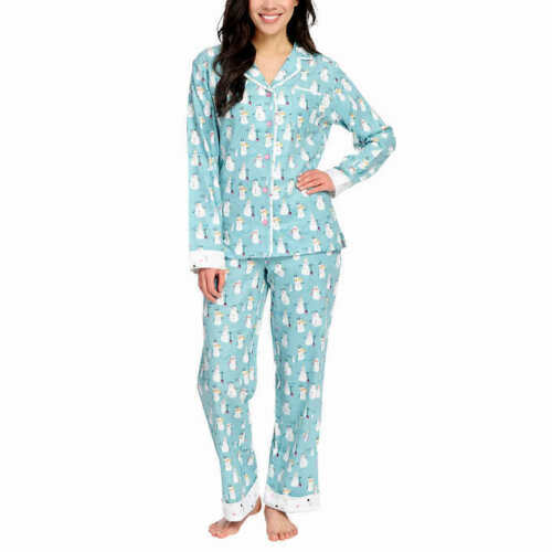 Munki Munki Ladies/' 2-piece Flannel PJ Set
