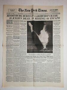 N1060-La-Une-Du-Journal-The-New-York-Times-7-Mai-1937-Hindenburg