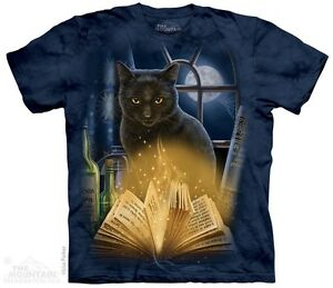 Bewitched-Cat-Shirt-Mountain-Brand-In-Stock-Black-Kitty-Magic-Books-Sm-5X