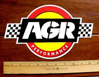 Agr Auto Racing Performance Checkered Flag Large 10 X 6 1/2 Vinyl Sticker