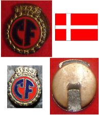 HISTORY OLD BADGE KNOPFLOCH ZIVILSCHUTZ CIVILFORSVARET CF 1944  DÄNEMARK DENMARK