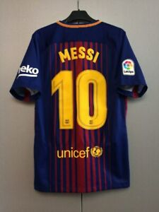 new product b92cd 4d3ae Details about Barcelona Barca 2017-18 Home Football Soccer Shirt Lionel  Messi #10 Nike Jersey
