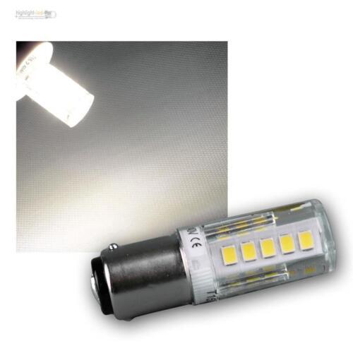 230V 2,5W BA15d LED Ersatzlampe für Kühlschrank Nähmaschine Lampe Birne Licht