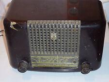 VINTAGE ancien TSF alt old RADIO PHILIPS PHILETTA 54L tube à lampe BAKELITE