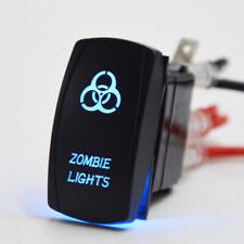 Rocker Switch 5pin Blue Laser Zombie Light Display On Off 20a 12v Universal