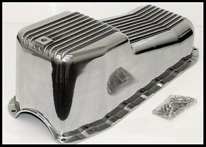 Details about SBC CHEVY ALUMINUM OIL PAN 2pc RMS 80-85 PASS SIDE DIPSTICK #  8443-OP CLEARANCE