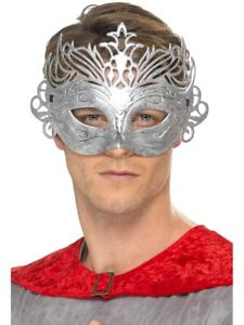 COLOMBINA-SILVER-EYE-MASK-ROME-MASKED-BALL-FANCY-DRESS-ACCESSORY-SILVER