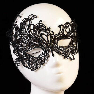 Lolita Black Lace masquerade fancy dress ball Costume Party Mask Gothic Jewelry