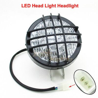 12V ATV LED Head Light Front Headlight For 110 125 150 200 250cc Quad Go Kart