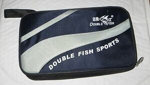 Double-Fish-Ping-Pong-paddle-table-tennis-racket-bat-case-bag-cover-fit-ball-USA