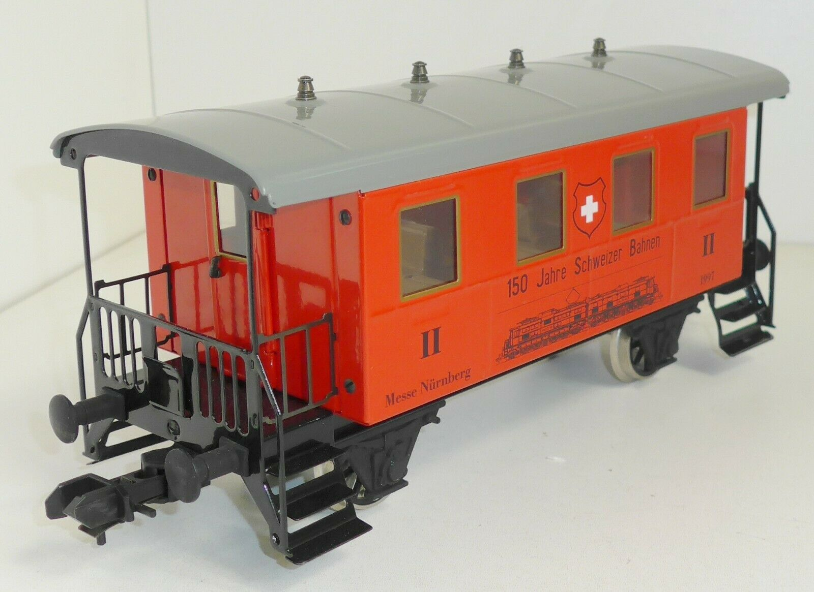 Märklin 1 MAXI vagoni 2.kl. Fiera Norimberga 1997 150 anni Ferrovie Svizzere