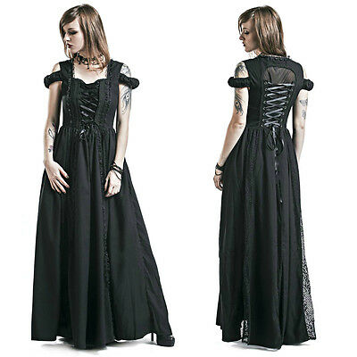 banned daysleeper gothic corset maxi victorian long dress