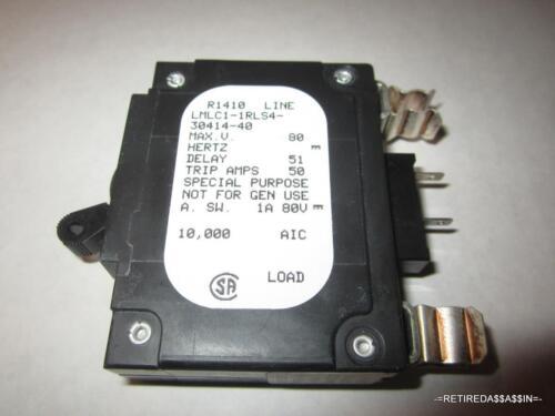 NEW Airpax//Sensata The LMLC1-1RLS4-30414-40 40A 80 VDC Volt DC Circuit Breaker