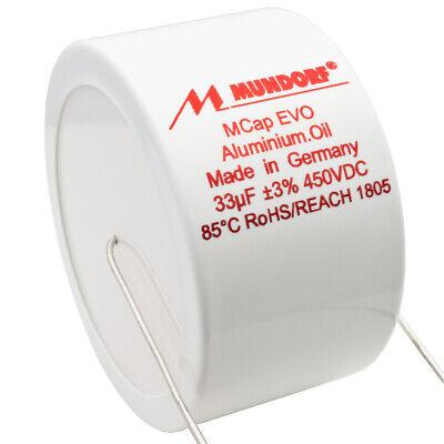 Mundorf MCap EVO Aluminum Oil Capacitor Cap 33uf 33 uf 450VDC