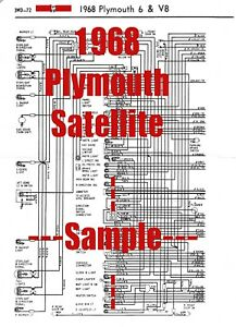 1968 Plymouth Satellite Full Car Wiring Diagram *High Quality Printed Copy*  | eBayeBay