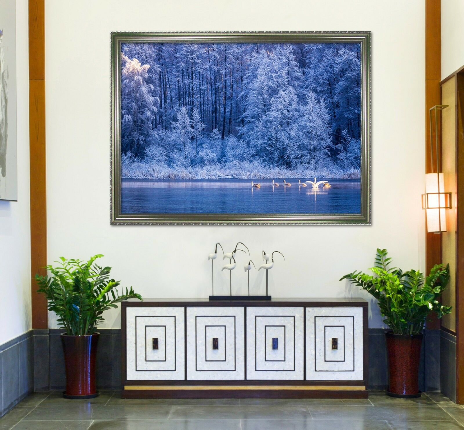 3D Forest Lake 55 Fake Framed Poster Home Decor Print Painting Unique Art Summer