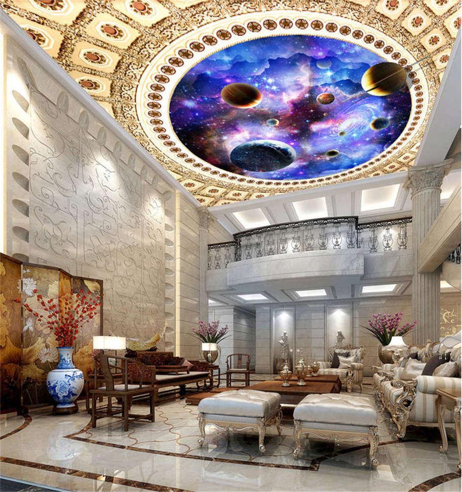 Hard Occult Stars 3D Ceiling Mural Full Wall Photo Wallpaper Print Home Decor